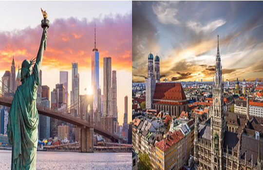 New York, NY - USA - Munich Germany - LC GLOBAL Consulting - two cities - two continents 2021 540 x 350